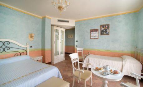 Camera tripla dell'hotel Valle Rosa, spoleto