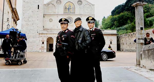 Le riprese della fiction Don Matteo a Spoleto